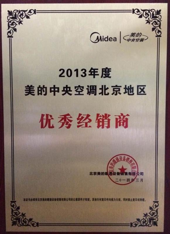 美的新万博软件下载荣誉证书