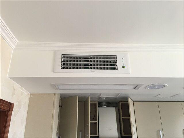 开阳里小区美的100一拖四中央空调系统安装案例
